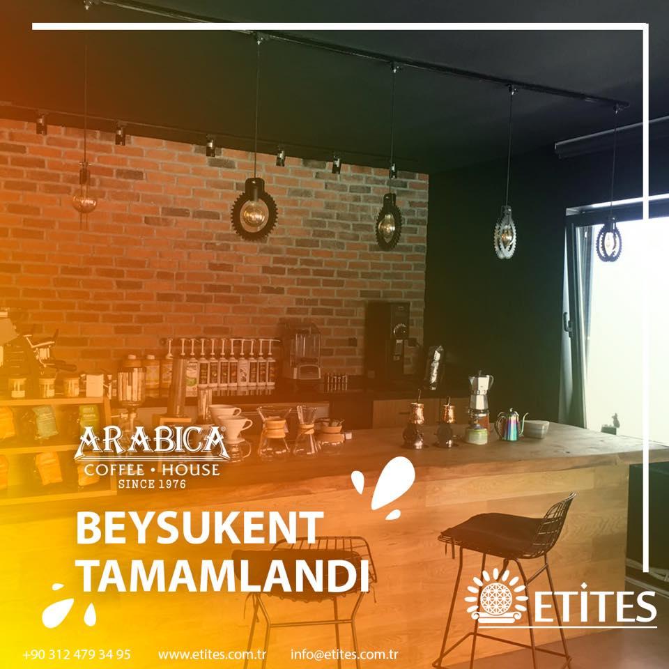 Beysukent Arabica Coffee Mekanik Tesisat Projesi Tamamlandı