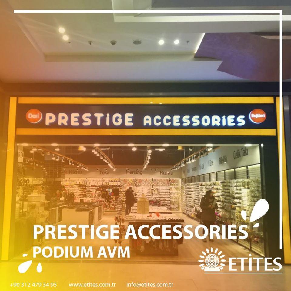 Podium Avm'de açılan Prestige Accessories'in Mekanik Tesisat Projesi Tamamlandı