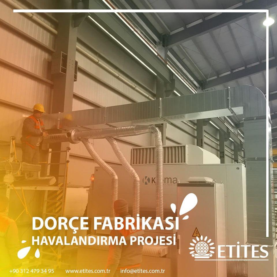 Dorçe Prefabrik Yapı Fabrikası'nın Havalandırma Projesi Tamamlandı