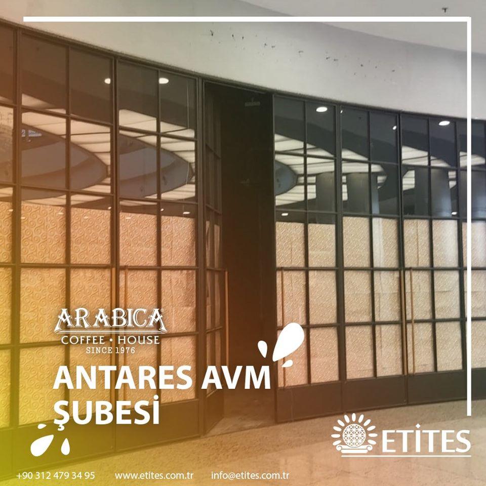 Arabica Coffee Antares AVM Mekanik Tesisat Projesine Başladık