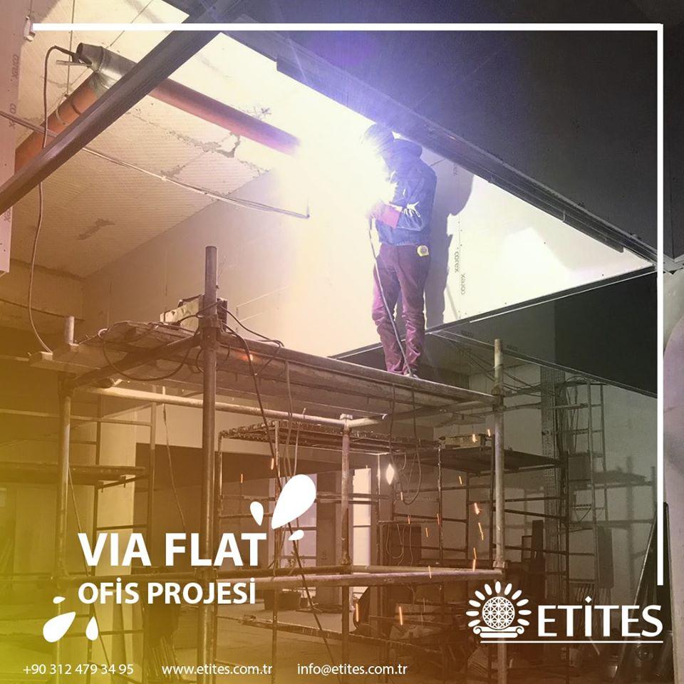 Via Flat'teki Ofis İçin Mekanik Tesisat İşlerini Tamamladık