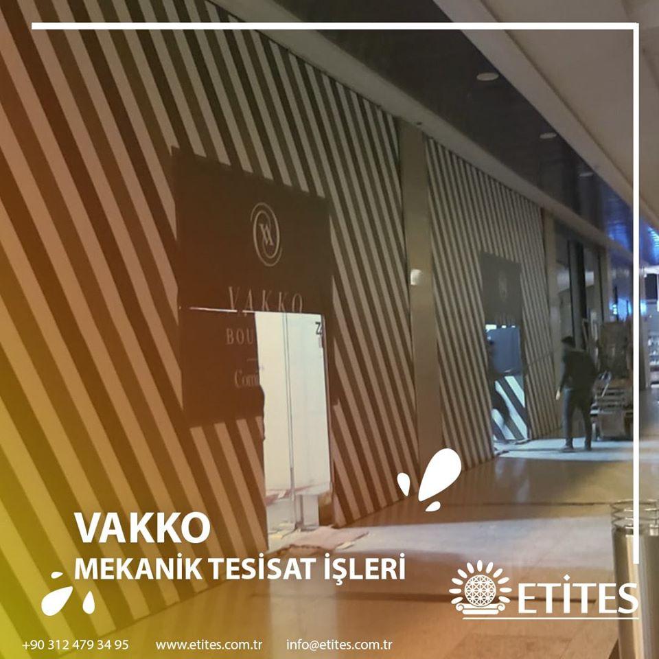 Vakko'nun Cepa Avm Şubesi Mekanik Tesisat Projesine Başladık