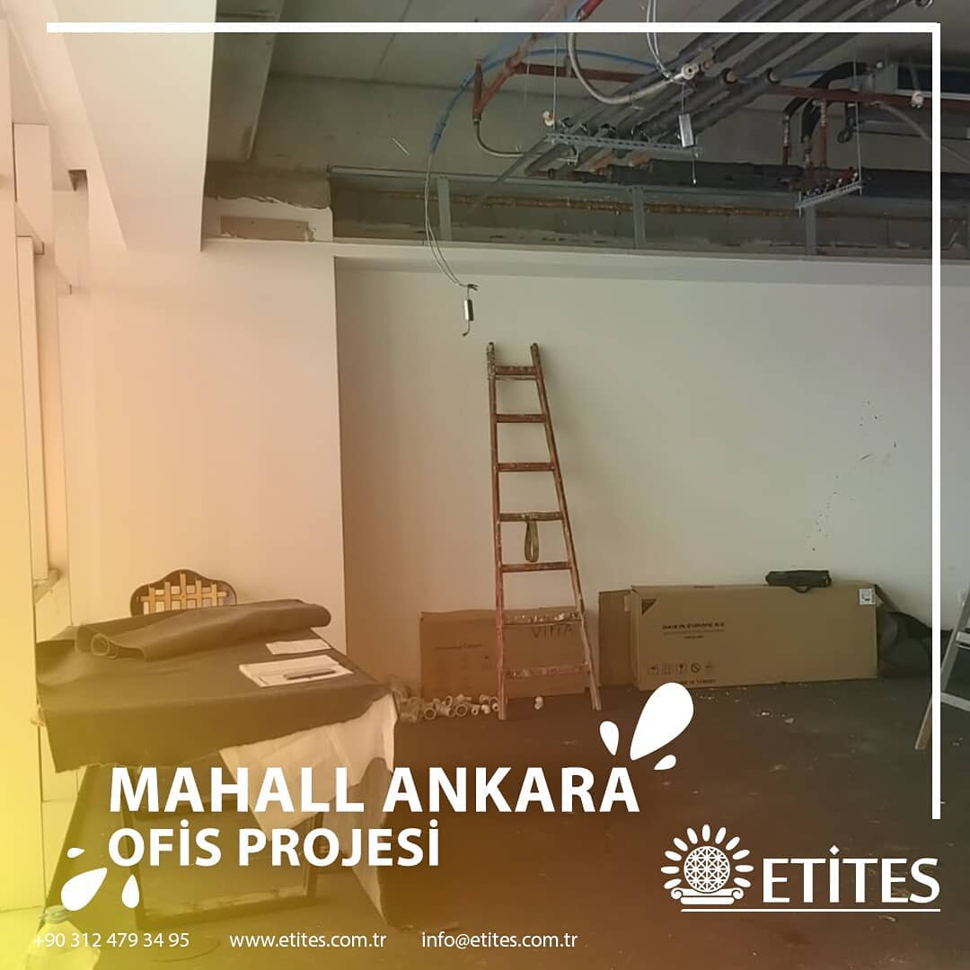 Mahall Ankara'da 137 Numaralı Ofisin Mekanik Tesisat Projesi Tamamlandı