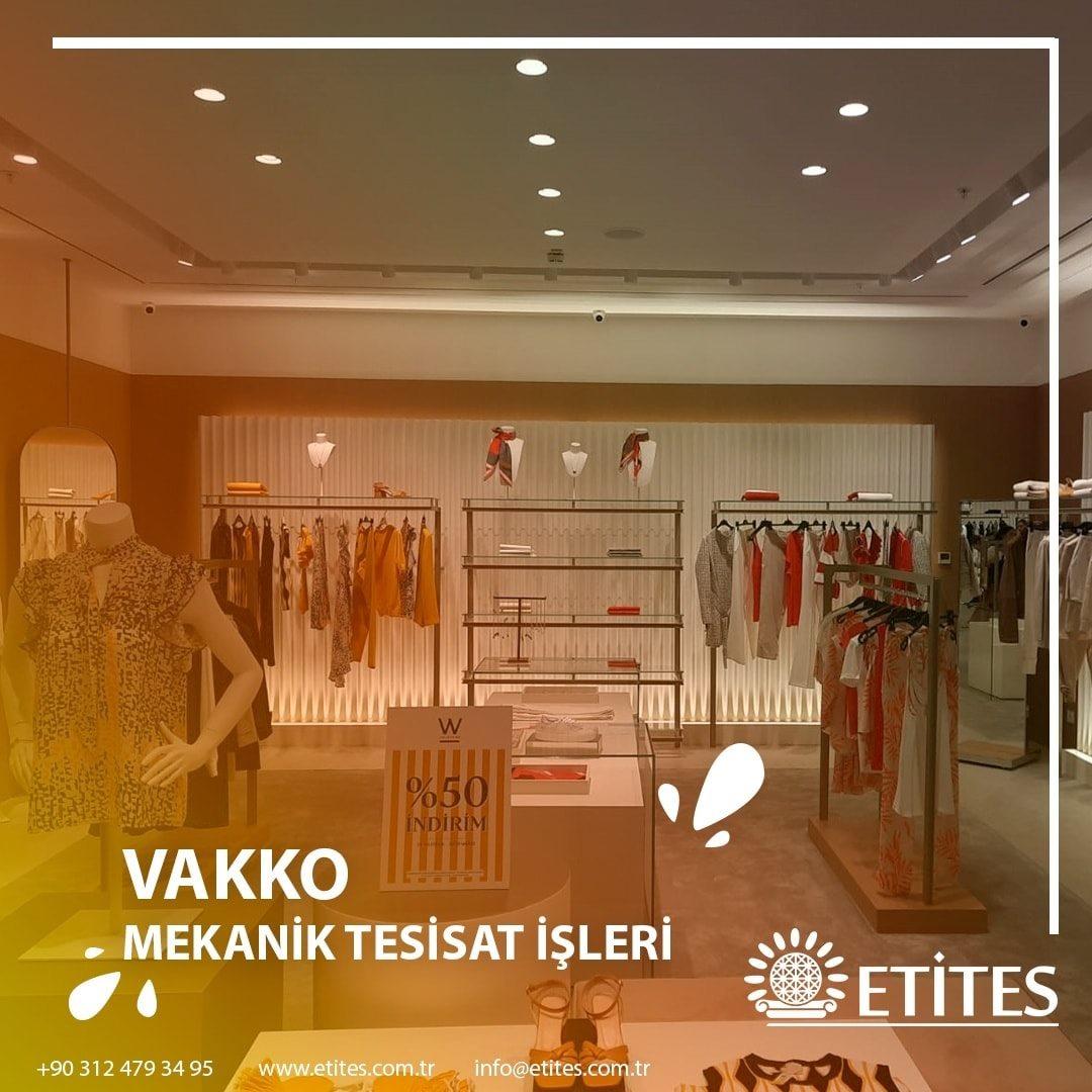 WCollection ve Vakko Butik'in Mekanik Tesisat Projesi