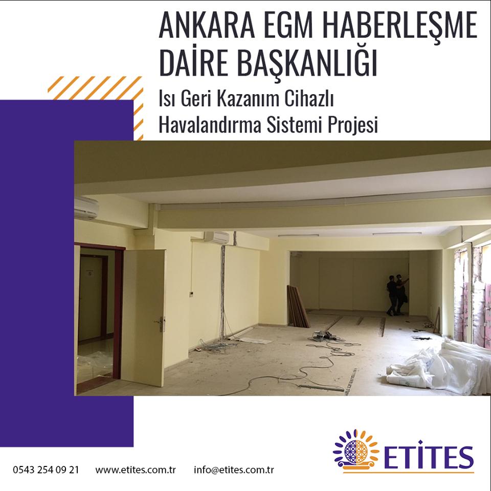 Ankara Emniyet Genel Müdürlüğü Haberleşme Daire Başkanlığı Projesi