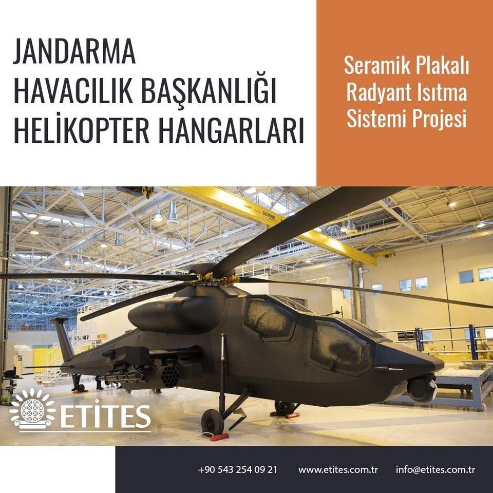 Jandarma Havacılık Başkanlığı Helikopter Hangarlar Projesi