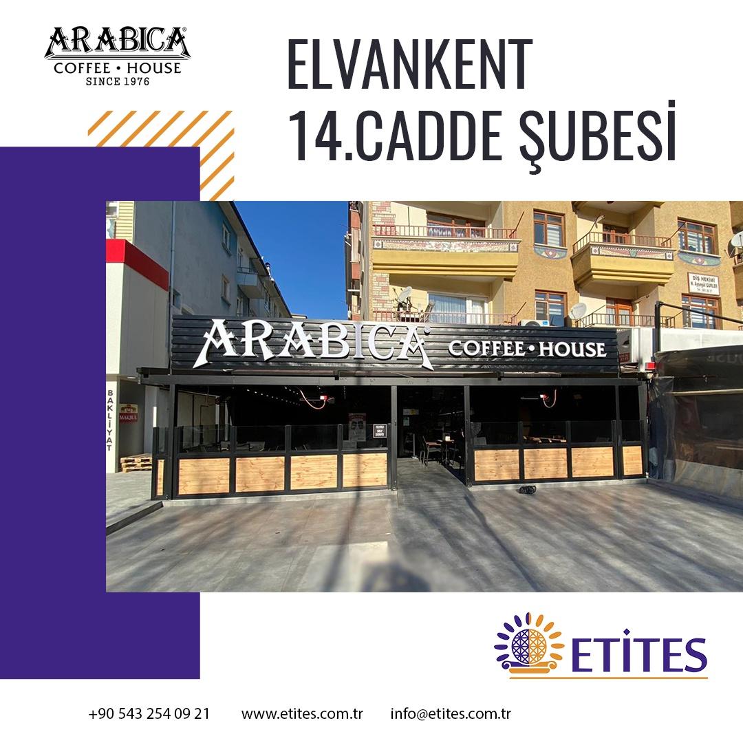 Arabica Coffee Elvankent 14. Cadde Şubesi Projesi