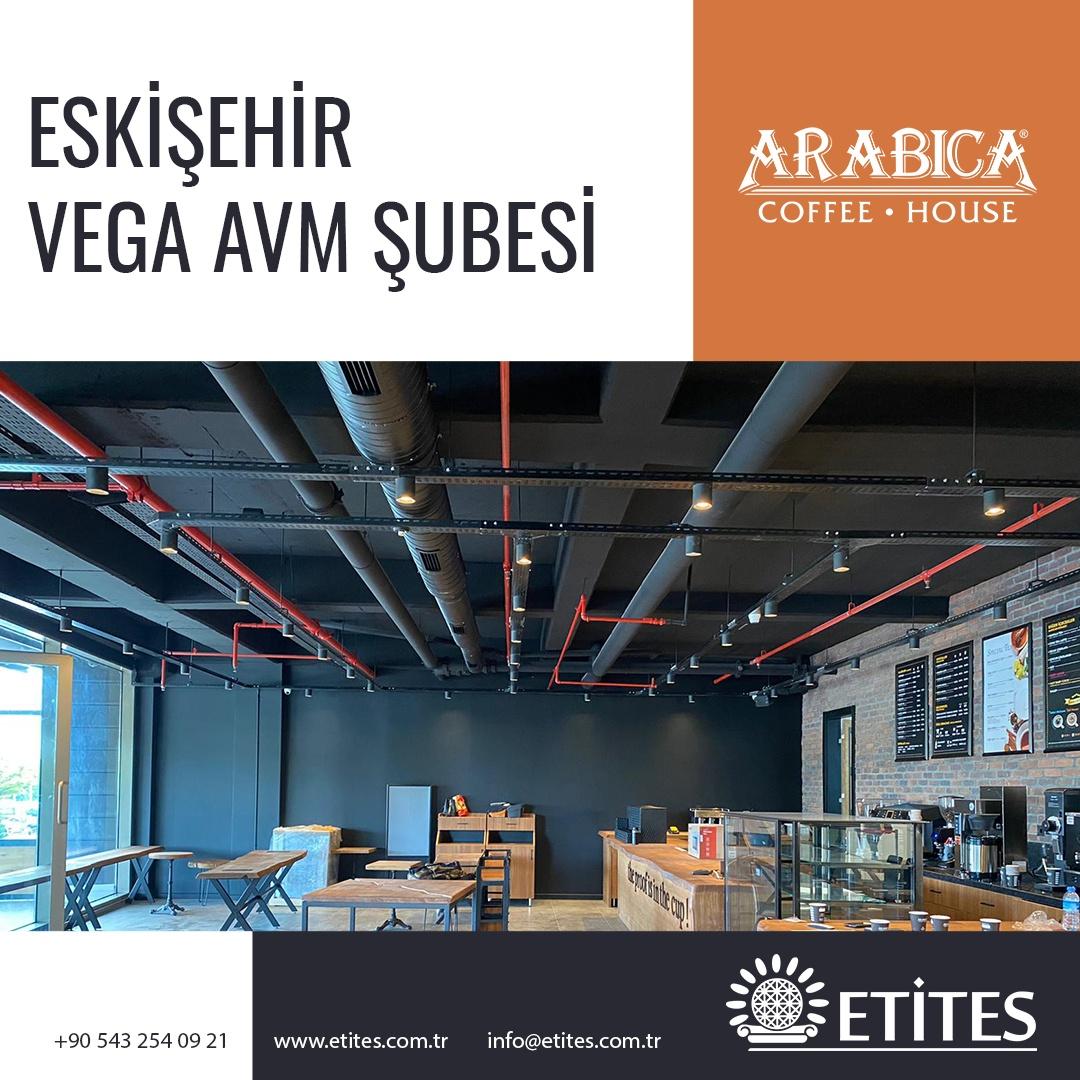 Arabica Coffee Eskişehir Vega Avm Şubesi Projesi