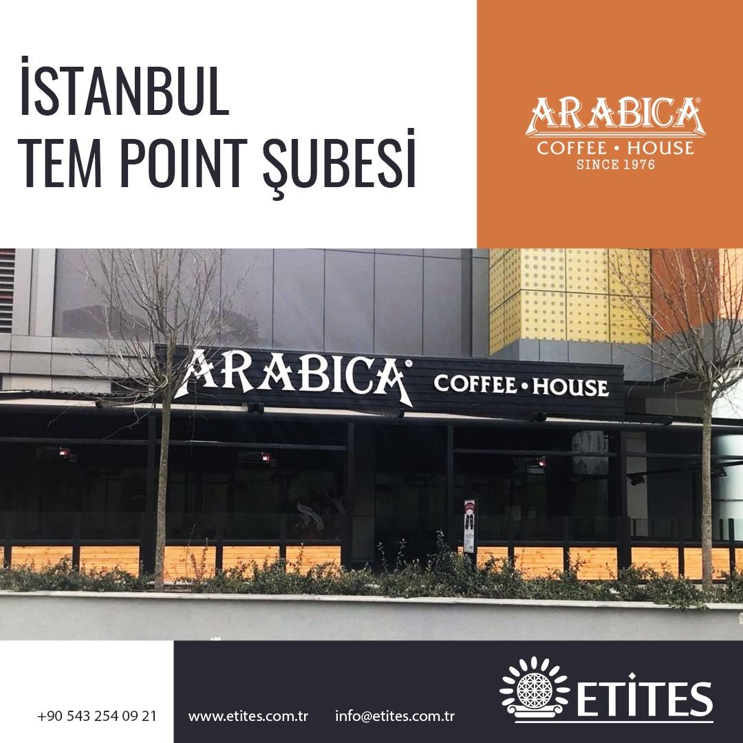 Arabica Coffee İstanbul TEM Point Şubesi Projesi