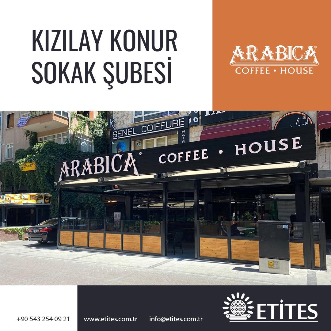 Arabica Coffee Kızılay Konur Sokak Şubesi Projesi