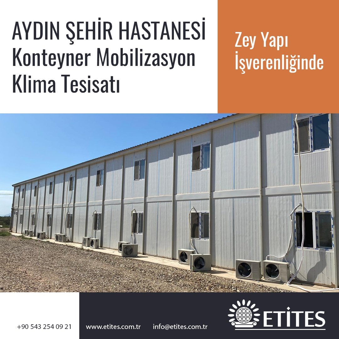 Aydın Şehir Hastanesi Konteyner Mobilizasyon Projesi